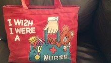 I wish I were a nurse red bag