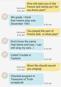 screenshot text messages photo story