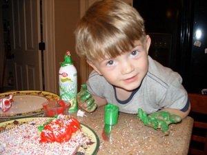 decorating Christmas cookies 2007