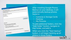 automatic find and backup with Google Photos